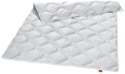 sleepling 194460 Nature 100% Cashmere Luxus Steppdecke Mono medium Ganzjahresdecke 135 x 200 cm, weiß