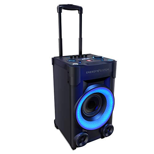 Energy Sistem Party 6 (240 W vermogen, feestverlichting, soundboost, mic/gitaar-in, Bluetooth 4.0, audio-in/out, afstandsbediening) zwart Party 3-100 - 290 x 530 x 310 mm - 8,4 kg zwart