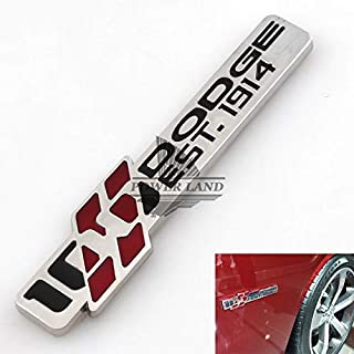 Car Styling 3D Metal Emblem 100th Anniversary Front Fender Edition SXT Badge Side Body Sticker Auto Decal For DODGE EST.1914