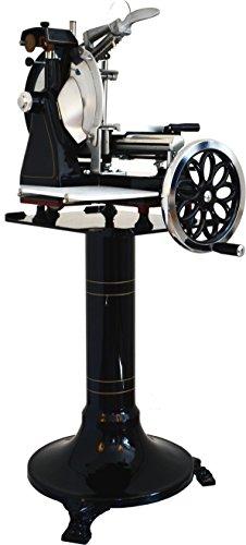 Aufschnittmaschine Schwungradmaschine Volano 300 SCHWARZ mit Glattrad