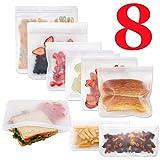 SLOSH 8 Bolsa Reutilizable Comida Trabajo Fruta Porta Alimentos Sándwiche Bocadillo Almacenamiento Almacenaje Almuerzo Viaje Conservación sin...