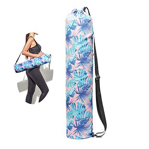 Llw Bolsa para colchonetas de Yoga, portátil, Plegable, fácil de Limpiar, Ligera y Duradera, Bolsa para colchonetas de Yoga, con Bolsillo con Cremallera Reflectante, Correa para el Hombro Ajustable