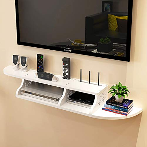 White Wall Mounted Shelf Muur Floating Shelf Set-top Box Shelf Wifi Router Storage Box TV meubel wandplank TV Cabinet TV Console TV Plank for Cable Box DVD-speler Opslag Shelf (Color : C)
