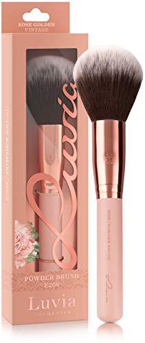 Luvia Puderpinsel - Essentials Powder Brush E208 - Großer Puder-Pinsel In Nude/Roségold - Vegane Kosmetik Schminkpinsel/Kosmetikpinsel