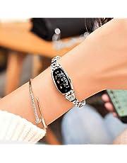 スマートウォッチ レディース【2019最新版】IP67防水 スマートブレスレット 女性 血圧計 心拍計 歩数計 活動量計 消費カロリー スポーツモード 睡眠検測 カラースクリーン 電話着信/SMS/Twitter/WhatsApp/Line通知 長い待機時間 長座注意 iphone&Android対応 日本語説明書 レディース/彼女/母の贈り物(シルバー)