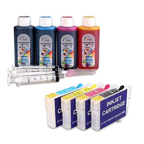 FINK Cartucho de tinta recargable 16XL y tinta 4x100ml,