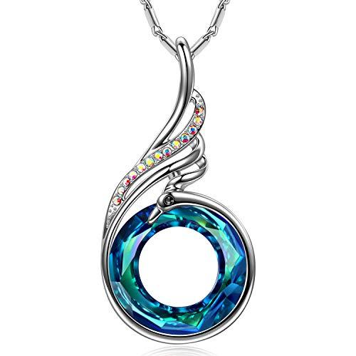 Kate Lynn Nirvana de Phoenix Collar Princesa para Mujeres con Cristales Swarovski Azul Regalos Navidad Joyas Cumpleaños Aniversario Día de San Valentín Madre Esposa Hija Niña Ella Su