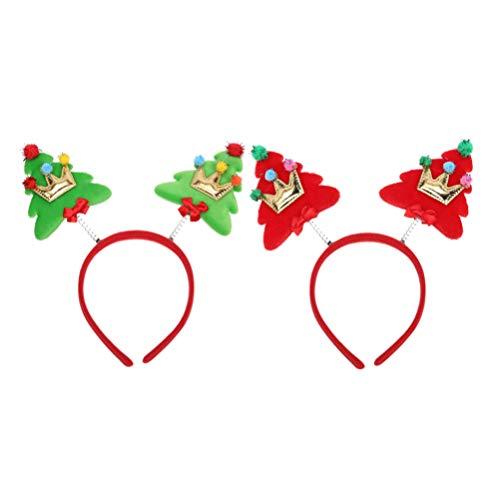 Lurrose 2 stuks kerstfeest hoofdband voorjaar haarbanden haarbanden hoofddeksel feestelijke accessoires