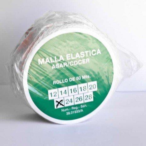alesframa Malla elástica para Carne, Rollo de 50 Metros (Calibre 22)