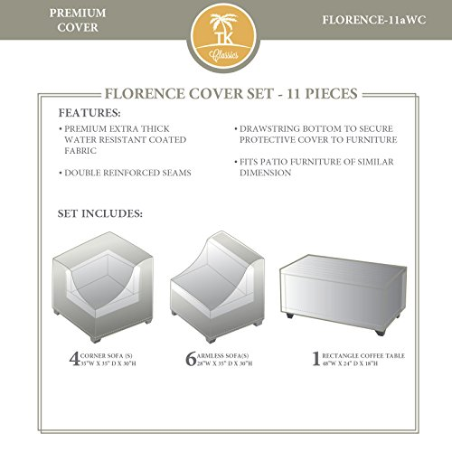 TK Classics FLORENCE-11aWC FLORENCE-11a Protective Set Covers and Storage, Beige