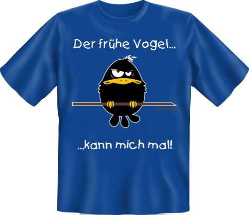 RAHMENLOS T-Shirt Der frühe Vogel kann Mich mal Fun Spruch T-Shirt 100{a4f9aa6cde06c149b676b6d17fdf67bd49b4c5e5467290b1d975506179ec5afa} Baumwolle - Größe S
