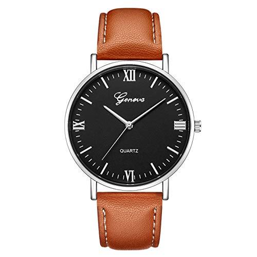 JZDH Relojes para Mujer Mira Las Mujeres Lady Watch for Woman Casual Quartz Band Band Analog Women Clock Wristwatch Relojes Decorativos Casuales para Niñas Damas (Color : Sky Blue)