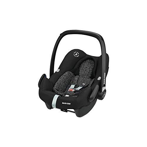Maxi-Cosi Rock Babyschale, sicherer i-Size Kindersitz, Gruppe 0+ (0-13 kg), nutzbar ab der Geburt bis 12 Monate, black grid