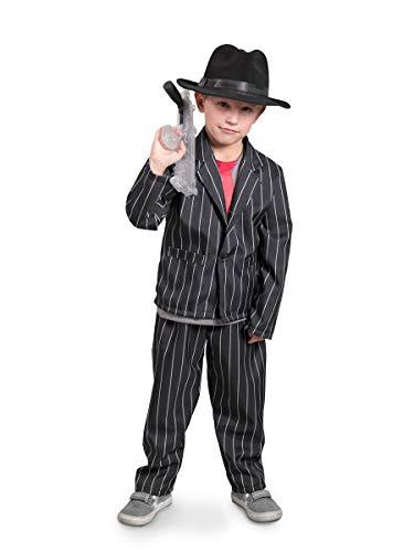 Folat 63253–maffia Disfraz para Niños, 116–134cm, Negro