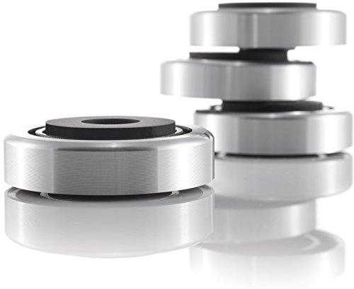 Hifi Lab Aluminium Füße 40x12 Geräte-Füße Alu Audio Absorber Silber Feet edel 4X