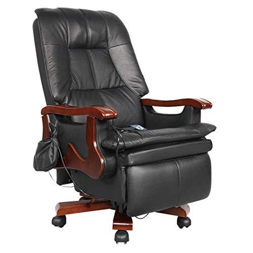 KUANDARGG Bürostuhl Chefsessel Drehstuhl Bürodrehstuhl, Schreibtischstuhl, Chefstuhl, Designklassiker, hochwertige Verarbeitung, Stuhl, 150 kg belastbarkeit, Black