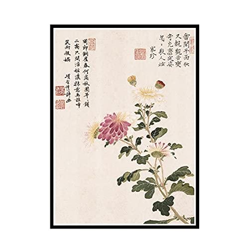Yoopa Vintage Art Chinesischer Stil Meilan Bambus Leinwand Malerei Kunst Poster Drucken Für Zuhause Wand Wohnzimmer Dekor-50X70 cm Kein Rahmen 1 Stck