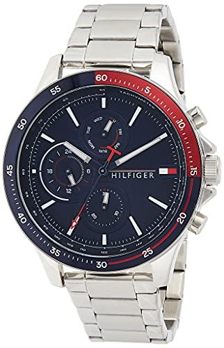 Tommy Hilfiger Reloj Analógico para Hombre de Cuarzo con Correa en Acero Inoxidable 1791718