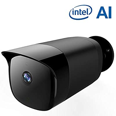 SimCam AI OutdoorSecurityCamera, On-Device Artificial Intelligence Surveillance Camera with Face Recognition, Person Detection, Privacy Protection,10X Super Fast with Intel, 2.4G&5.0G WiFi Camera