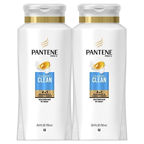 Pantene, Shampoo and Conditioner 2 in 1, Pro-V Classic Clean, 25.4 Fl...