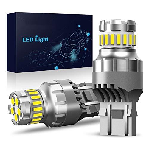 GSDGBDFE 2X 7443 7444 T20 W21 / 5W Light para Lada Kalina Gerina Vesta DRL Bulbs 12V 6500K White Super Bright 3030 4014 SMD (Emitting Color : 6500K White)