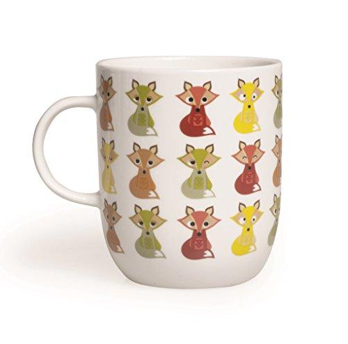 Excelsa Animals Tasse, 400ml, aus Porzellan, Farbe: Weiß Fuchs 8.9x8.9x10.6 cm Weiß/bunt