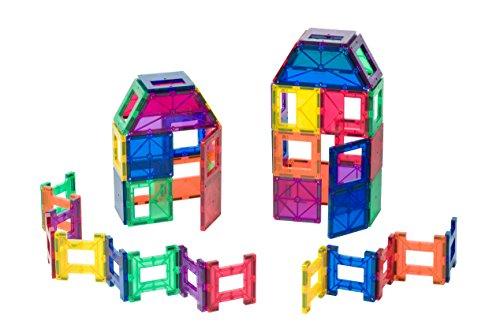 Playmags 36 pi/èces Coffret de Tuiles de Construction Aimant/ées 18 Lettres et Chiffres, et 18 Tuiles extra fortes