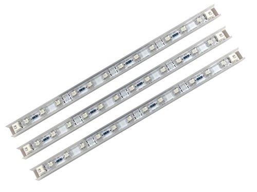 LED Sticks Unterbauleuchte LED Lichtleiste Möbelleuchte Blau Flach Star LED-Sticks 3er Set je 3W 12V inkl. Netzteil Lichtleiste LED 105lm 3x26cm Möbelleuchte