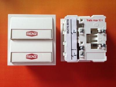RENZ Tastenmodul mit 2 Klingeltaster weiß RENZ Nummer 97-9-85270