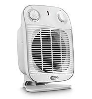 de'longhi hfs50a20.wh termoventilatore vertical edge, 2000 w, plastica, bianco