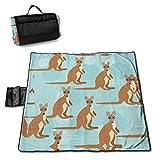 Suo Long Divertido para Kangraoo Zoo Picnic Mat Beach Blanket Picnic Blanket