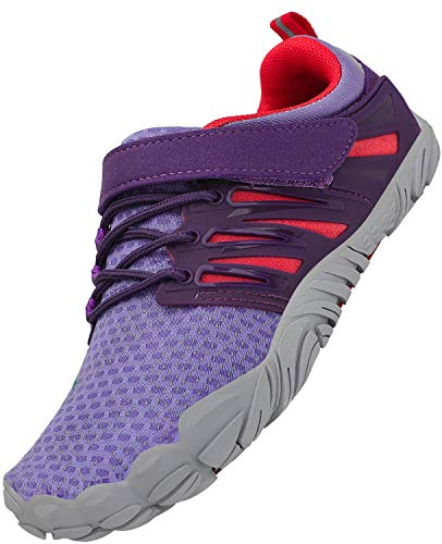 SAGUARO Niños Zapatos Descalzos Adolescentes Zapatillas de Trail Running Zapatos de Agua Deportes Zapatos de Playa Outdoor Playa Gym, Morado 29