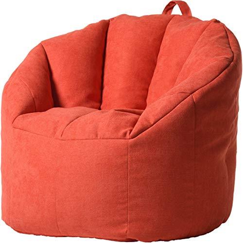 Riesiger Sitzsackstuhl Große Buttersack-Stuhl-Sofa-Couch-Liege Hoher hinterer Buttersackstuhl for Erwachsene und Kinder Outdoor Sitzsäcke Innen (Color : Taigeli red, Size : One Size)