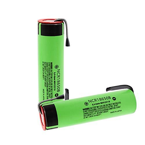 2Pcs 18650 Batería 18650B 3.7V 3400Mah 18650 Batería De Litio Soldadura Baterías De Hoja De Níquel