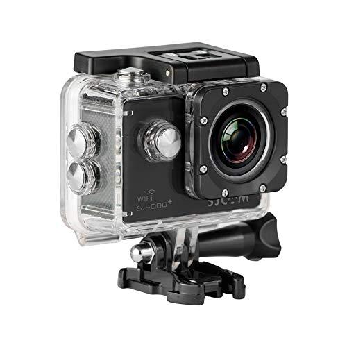 """SJCam SJ4000 Plus - Videocámara deportiva (WiFi integrado, LCD 1.5"""", 1080p 30 fps, sumergible hasta 30 m) color negro, - [Versión español] (Reacondicionado Certificado)"""