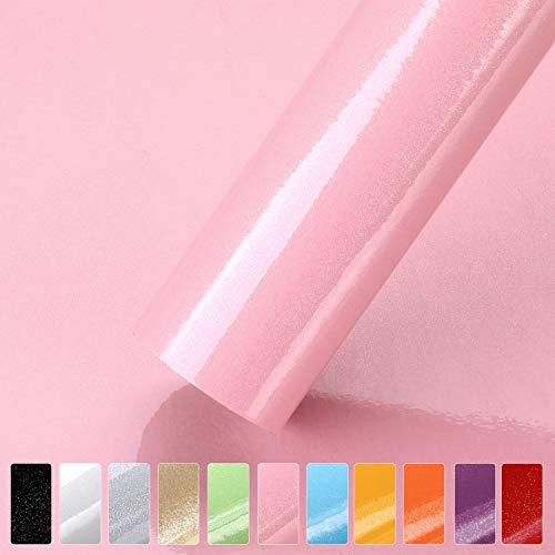 Küchenschränke Aufkleber aus PVC 61x500cm Tapete selbstklebende Folie Möbelfolie Küchenfolie mit Glitzer rückstandslos und kein Geruch...