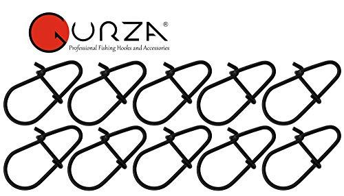Gurza Egg Snap - 10 Einhänger für Blinker, Gummiköder & Wobbler, Karabiner zum Spinnangeln, Karabinersnap zum Spinnfischen, Größe/Tragkraft:Gr. XUL / 4kg