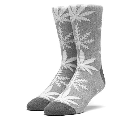 HUF ハフ スケボー ソックス 靴下 GLOW-FLAKE PLANTLIFE SOCKS グレーヘザー NO78