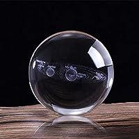 MXECO 3D Sistema Solar Bola de Cristal Planetas Bola de Cristal Globo Grabado Modelo en Miniatura Decoración para el hogar Astronomía Regalo Adorno