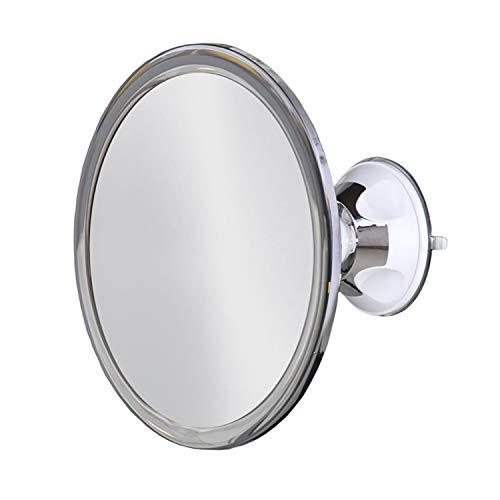 173mm 360 Degree Rotating Round Fogless Shaving Mirror Bathroom Shower Mirror with Locking Suction Anti-Fog Decorative Mirror