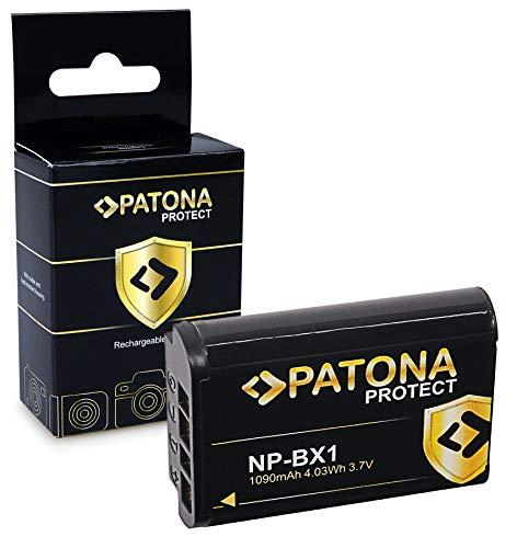 PATONA Protect Bateria NP-BX1, Carcasa V1 Compatible con Sony CyberShot DSC RX100, RX1r, RX100MII, WX300