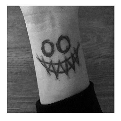 MRKAL Joker Face Big Etiqueta Engomada del Tatuaje Temporal A ...