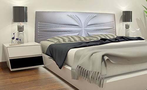 Cabeceros Cama 150 Polipiel Plata cabeceros cama 150  Marca TEXFYNO