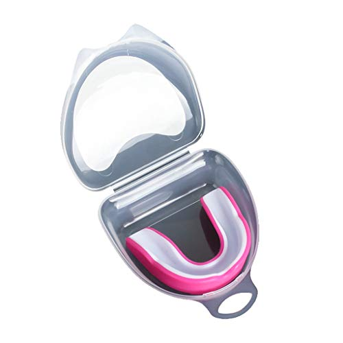 LDDLDG Protector bucal de protección bucal moldeable para deportes de protección de dientes, protección bucal juvenil con caja de plástico para niños adultos rugby, boxeo, hockey Mma karate, artes marciales, rosa