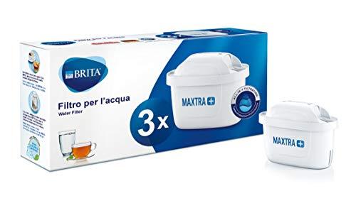 BRITA filtri MAXTRA+ Pack 3, Cartucce per caraffe filtranti, 3 filtri x 3 mesi di acqua filtrata