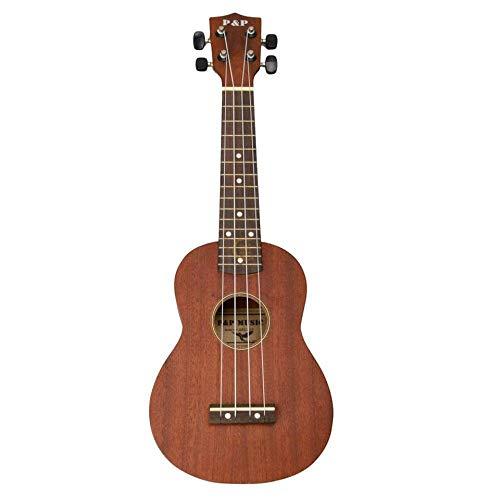 21 Zoll hochwertige Holz 4 Saiten Ukulele Musikinstrument Hawaiianische Gitarre 54CM Braun Für Musikliebhaber