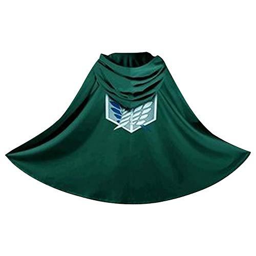 DANIFANEELLED Halloween AOT Die Flügel der Freiheit Flanell Umhang Decke Cosplay Kostüm Cape