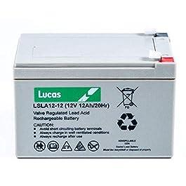 LUCAS – Batterie Plomb étanche Stationnaire VRLA AGM LSLA12-12 12V 12Ah