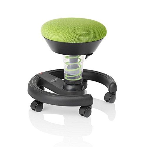Swoppster 3D-Aktiv-Drehstuhl Kinderhocker ergonomischer Kinderstuhl, Stoffmuster:Lime-Green