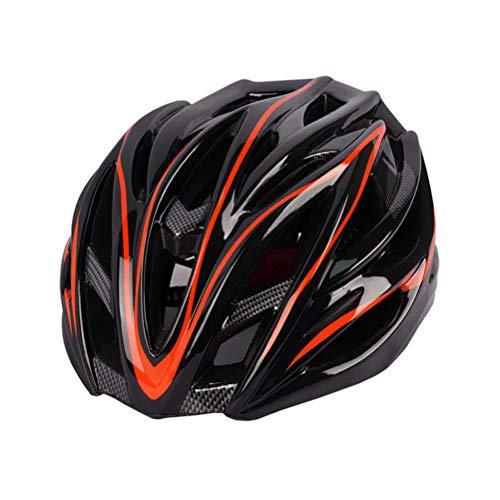 BakaKa Casco de Ciclismo Casco de Ciclo de Bicicleta Casco de Bicicleta de montaña Ajustable con luz Trasera Casco de Seguridad Casco de Ciclismo de Carretera